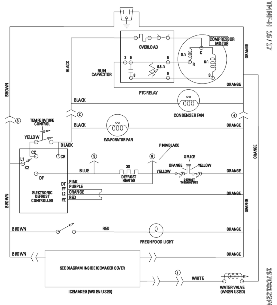 hight resolution of ge profile refrigerator wiring schematic wire diagram for refrigerator refrigerator compressor diagram wire diagram for ge
