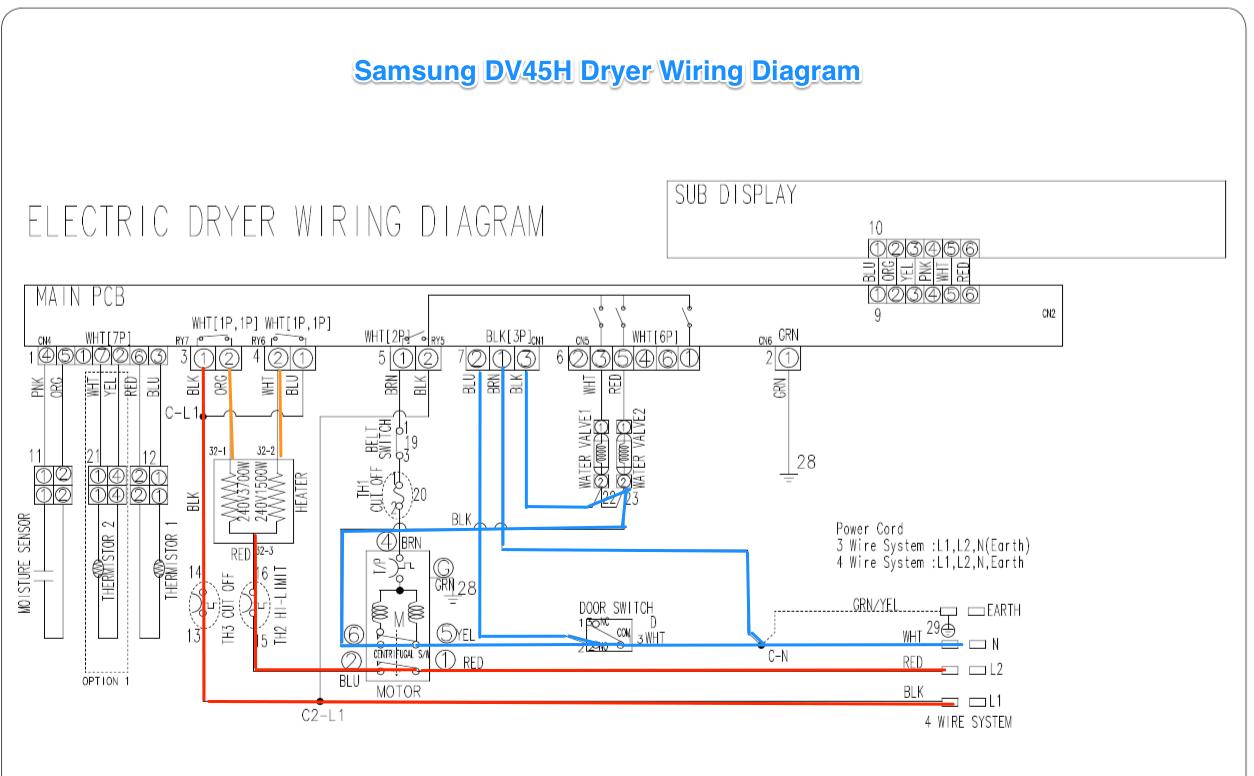 samsung heating element wiring diagram