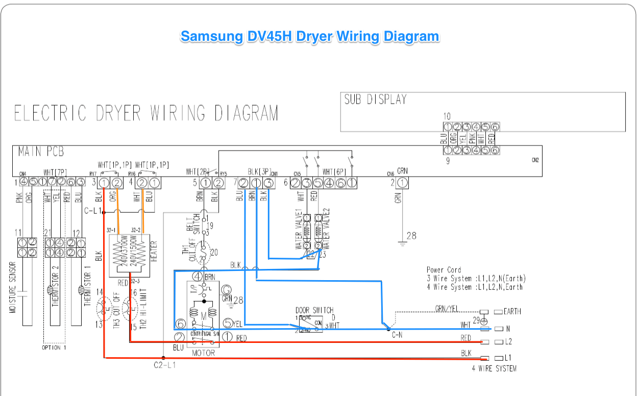 hight resolution of samsung dv42h dryer wiring diagram the appliantology gallery wiring diagram for dryer plug samsung dv42h dryer
