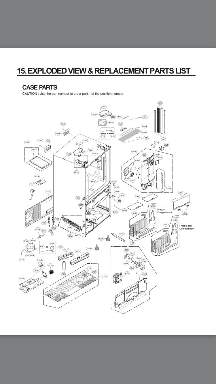 hight resolution of lg refrigerator lmxs30776s 00 parts list appliance service manual lg ldf6920st parts lg parts diagram