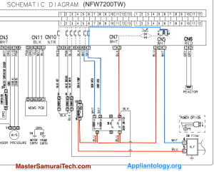 Amana Samsung NFW7200TW Washer Door Lock Schematic Trace