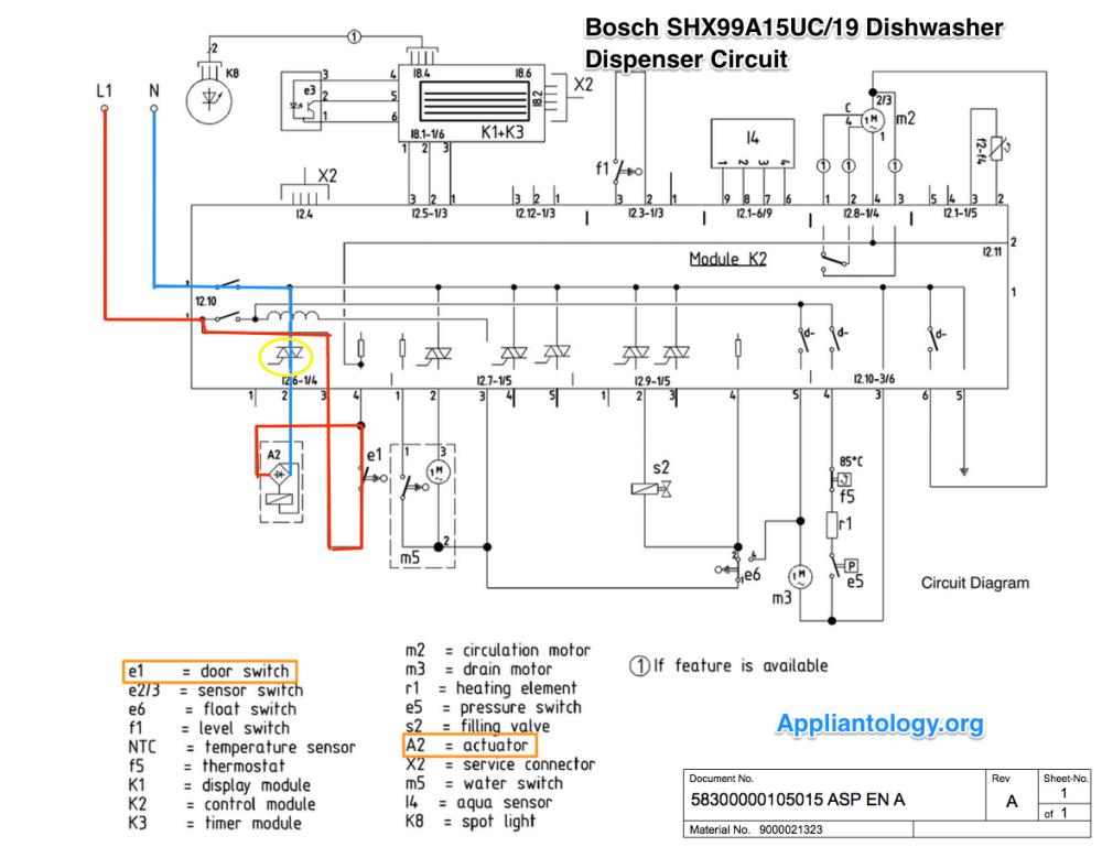 medium resolution of bosch shx99a15uc19 dishwasher dispenser circuit