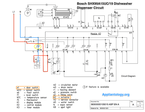 small resolution of bosch shx99a15uc19 dishwasher dispenser circuit