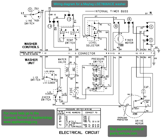 wiring schematic for maytag dishwasher