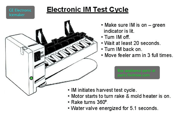 Test Cycle    Manual Harvest For The Ge Electronic Icemaker