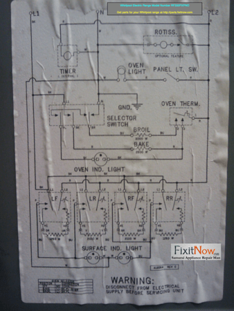 wiring diagram for whirlpool refrigerator ez go textron battery charger electric range schematic great installation of model number rf330pxpno rh fixitnow com