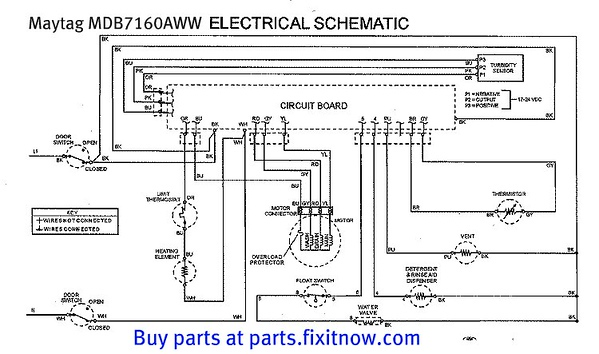 whirlpool dishwasher wiring diagram 2007 ford focus alternator maytag mdb7160aww schematic with bonus service bulletin | fixitnow.com samurai ...
