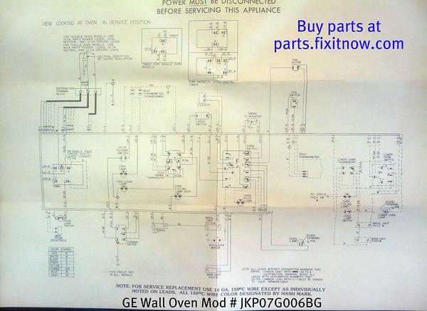 GE Wall Oven Model JKP07G006BG Wiring Diagram Fixitnow Com