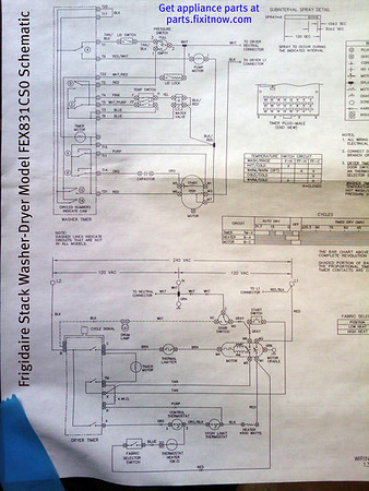 electrolux dryer wiring diagram 5 jaw meter socket frigidaire stack washer model fex831cs0 schematic fixitnow