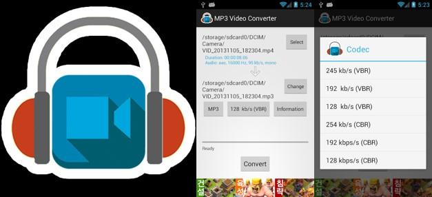 logo y capturas de mp3 video converter