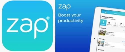 logo y publicidad de zap - real estate crm