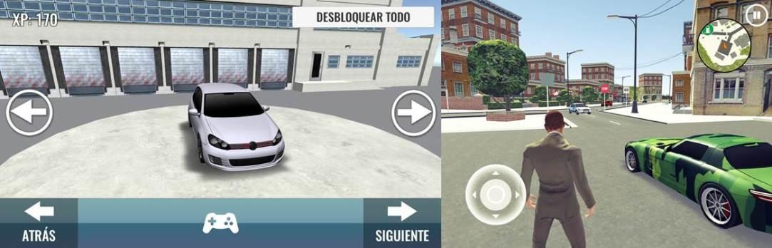 personalizar el coche y conductor simulado en la app