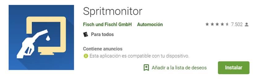 spritmonitor en google play store