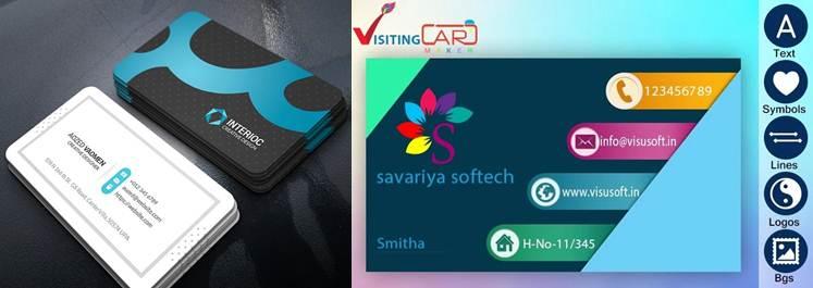 tarjetas e interfaz de visiting card maker