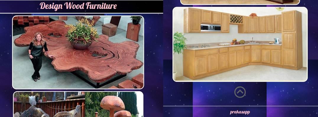 diseños disponibles en la app diseño de muebles de madera
