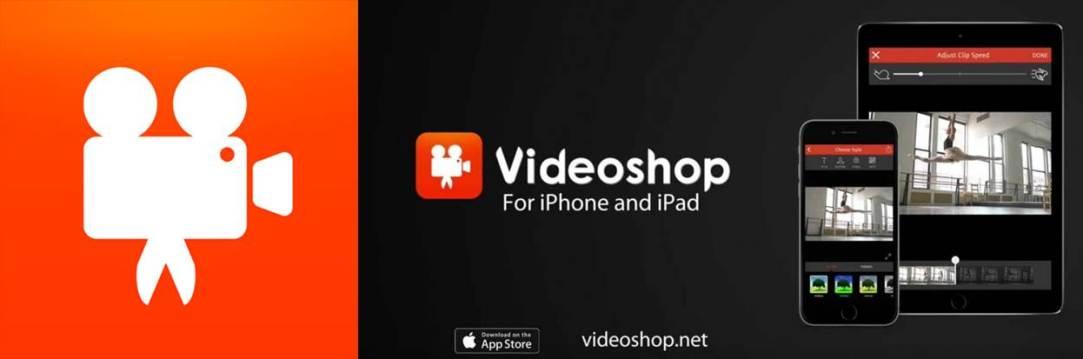 logo y publicidad de videoshop para ios