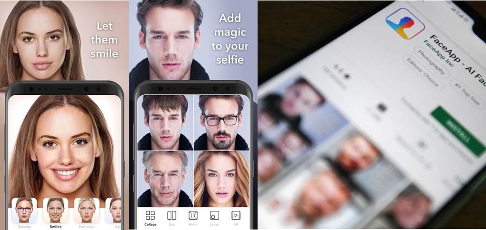 opciones y configuración de privacidad de faceapp