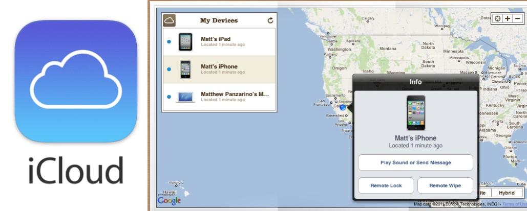 localizar y rastrear un móvil con icloud