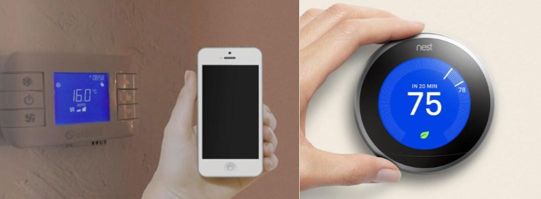 termostatos inteligentes controlados a distancia