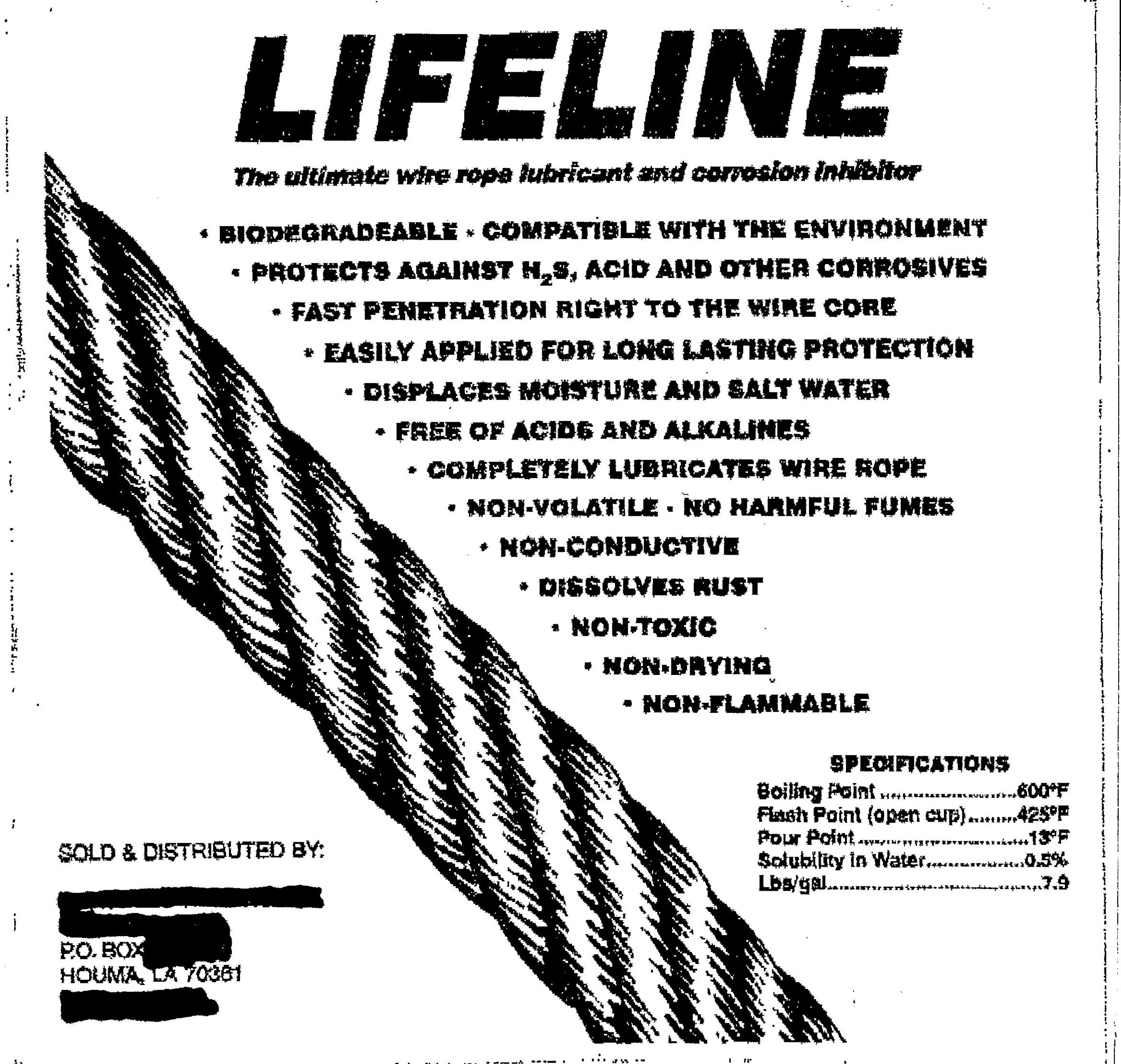 Notice: Counterfeit LIFELINE wire rope lubricant sold