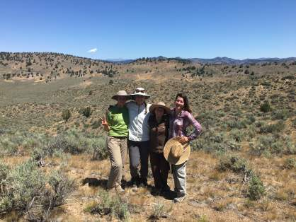 Conservation Research field crew, from left to right: Crew leader Meaghan Petix, Interns Liza Holtz, Ari Frietag and Sarai Carter.
