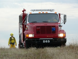 One of the fire engines at Lupine Meadows