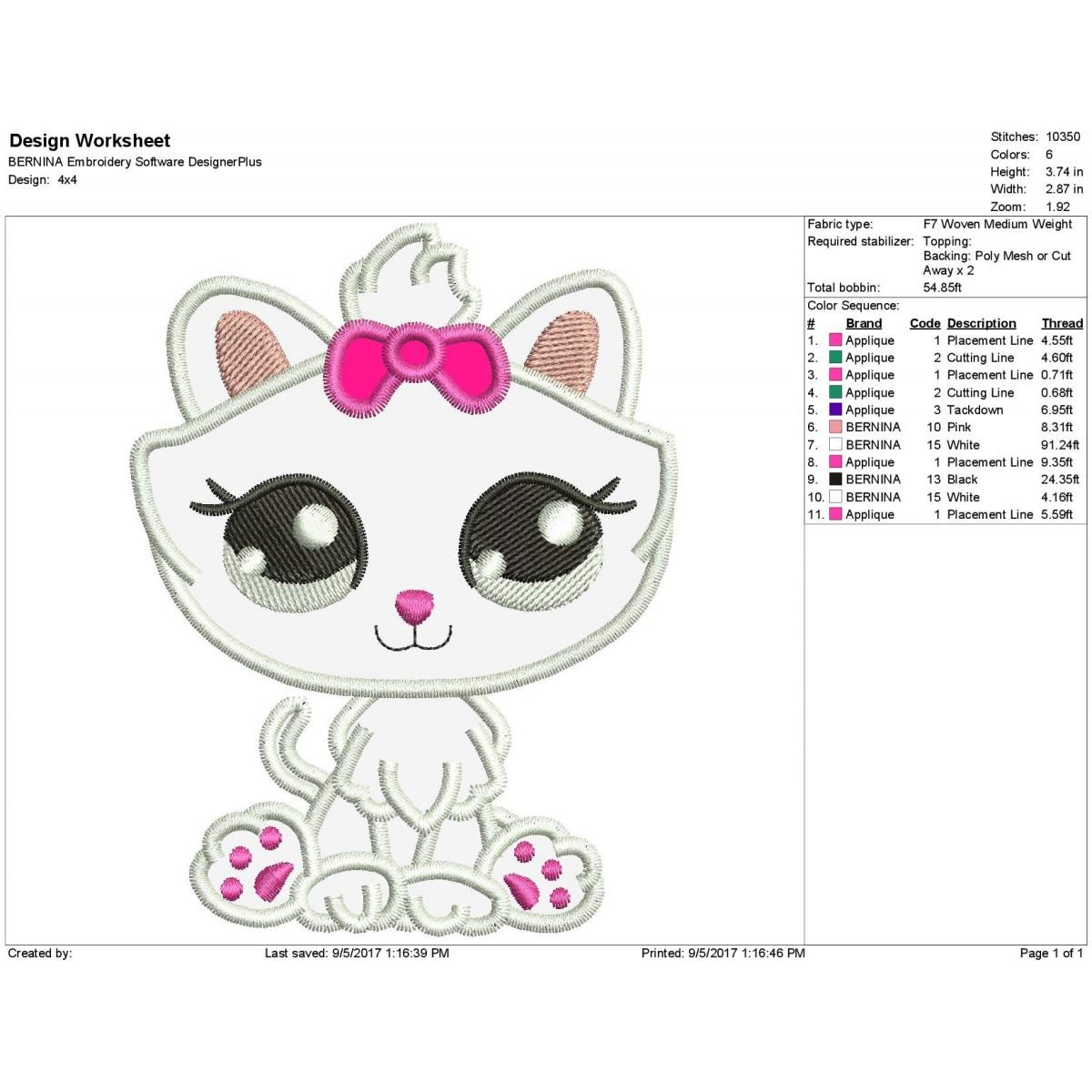 Cat Littlest Pet Shop Applique Design