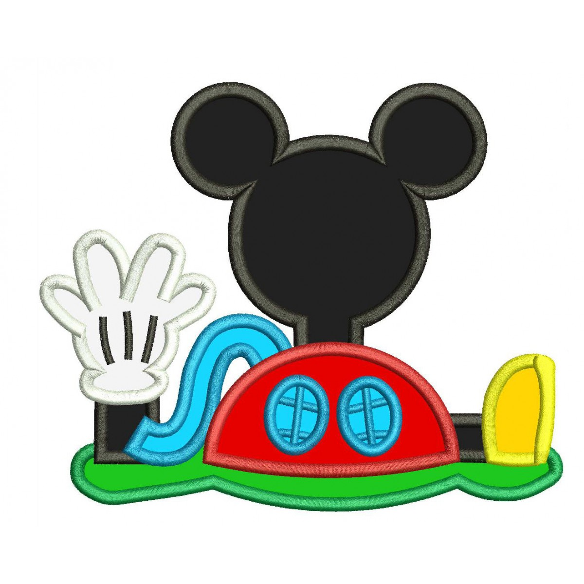 Disney Mickey Mouse Clubhouse Machine Applique Design