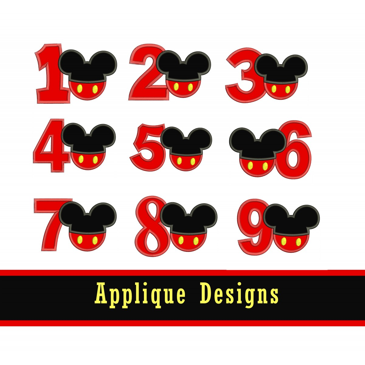 Mickey Head With Numbers 1