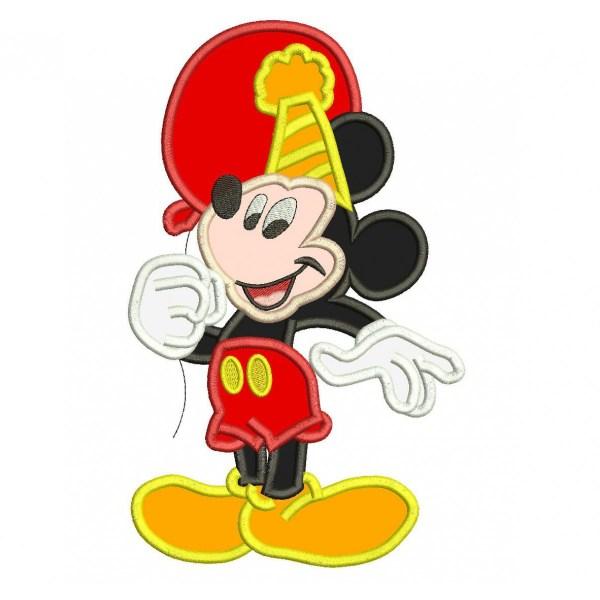 Mickey Mouse Birthday Applique Design