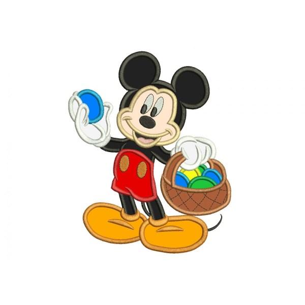 Mickey Mouse Easter Applique Design