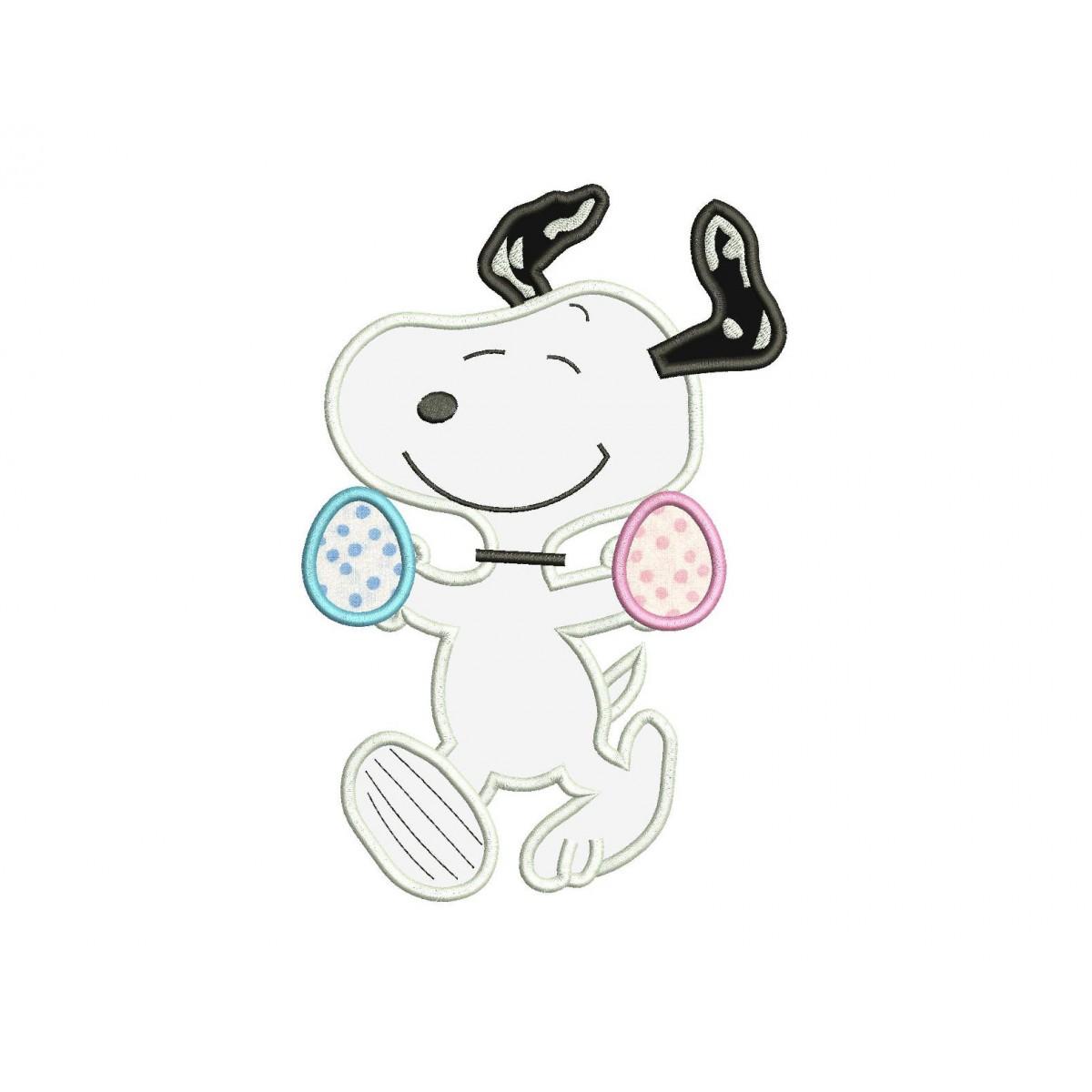 Snoopy Easter Egg Applique Design