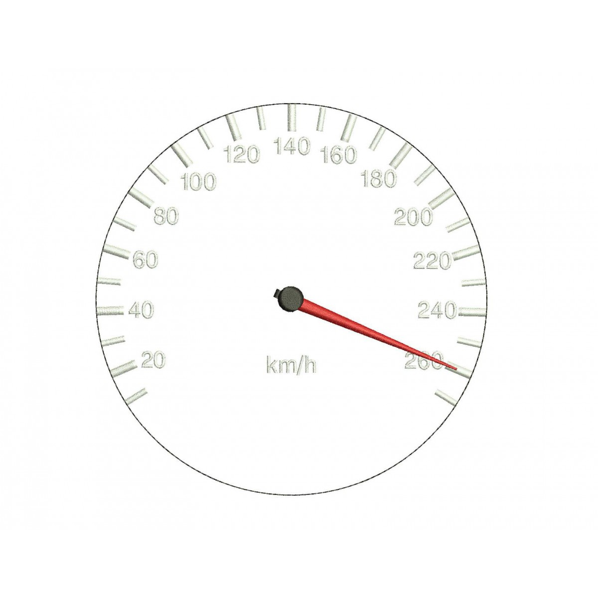 Speedometer Embroidery Design
