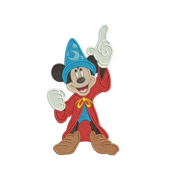 Wizard Mickey Mouse Embroidery Design