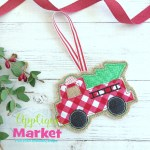 In The Hoop Fire Truck Ornament