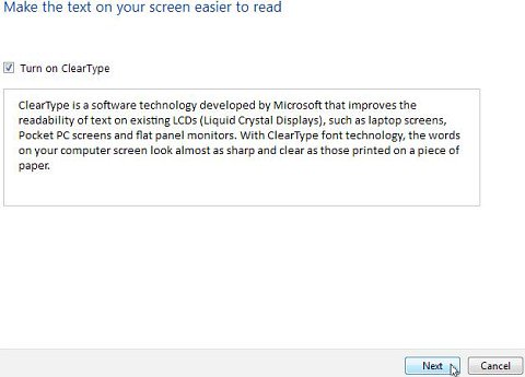 ClearType on Windows