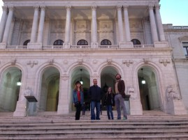 On the steps of Portuguese Parliament