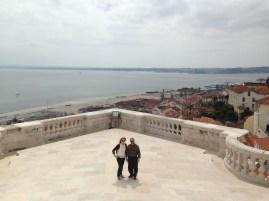 Me & Doug on the balcony of the Igreja del Santa Engracia