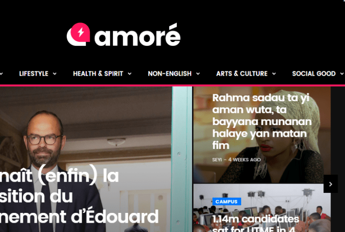 Amore.ng News Website