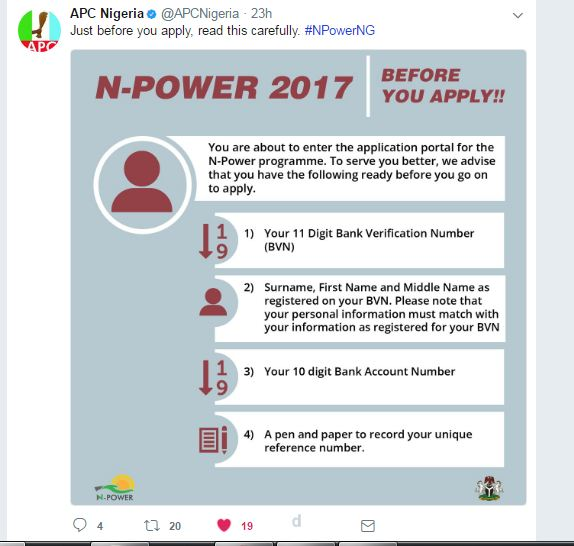 NpowerNg 2017 registration Updates