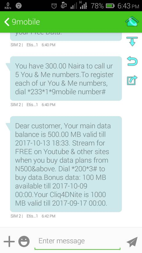 How do I use my etisalat 1GB