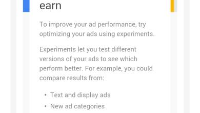 Google Adsense Experiment