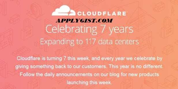 Cloudflare turns 7 years