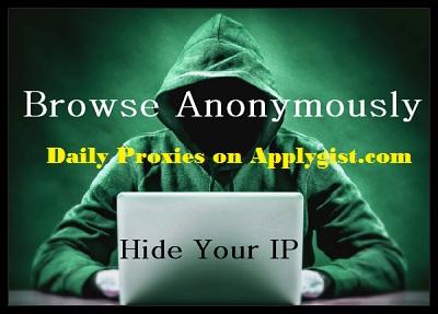 Anonymous Proxy List November 11, 2017
