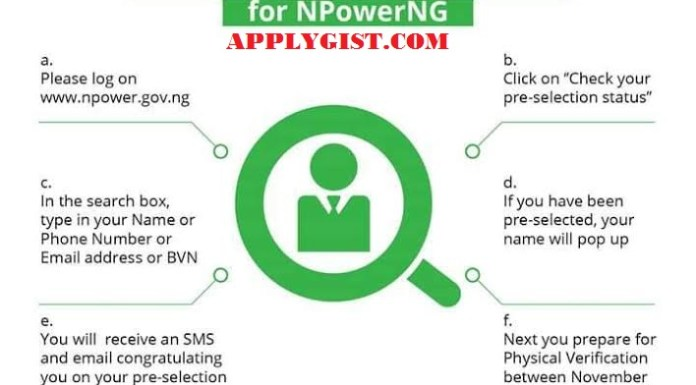 How to Check If you have been Pre-selected For NPowerNG