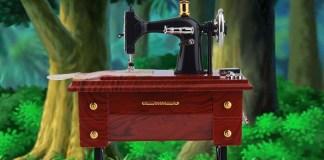 Mini Antique Styled Mechanical Music Jewelry Box