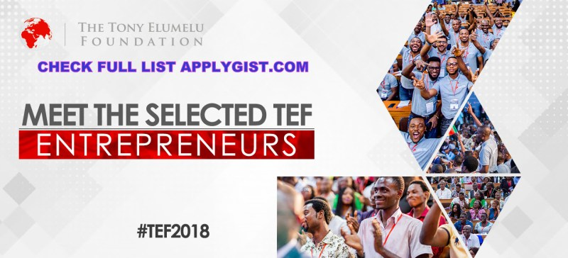 Full List Tony Elumelu Foundation Winners 2018