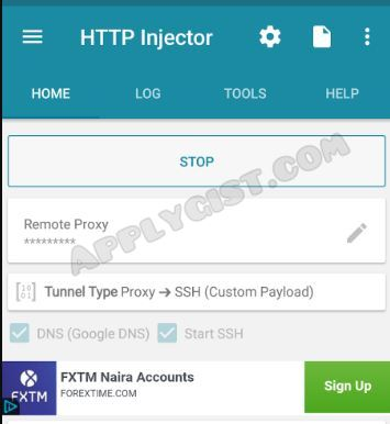 HTTP Injector Settings For MTN NG 0.0k Free Browsing Cheat