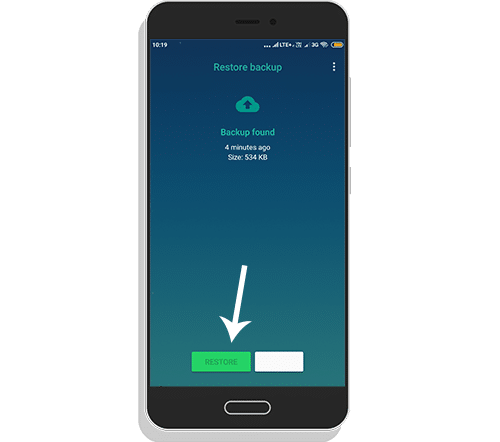 Simple steps to restore Whtsapp backup