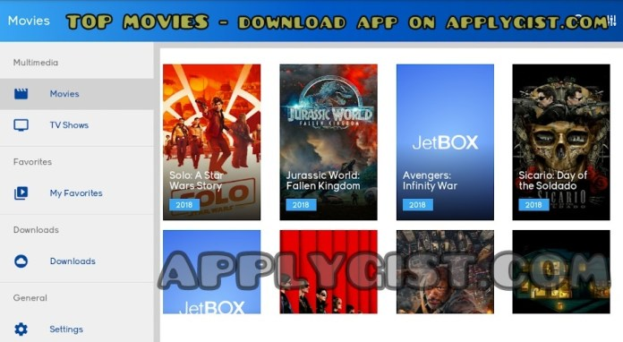 Top trending movies on JetBOX App